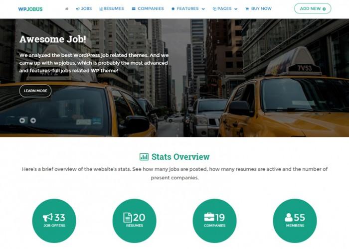 WPJobus – Premium Responsive Job Board and Resumes WordPress Theme