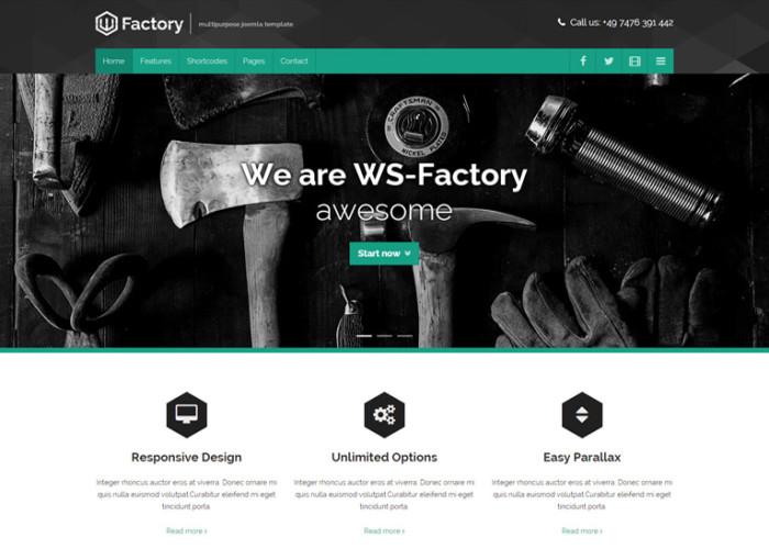 WS-Factory – Premium Responsive Multipurpose Joomla Template