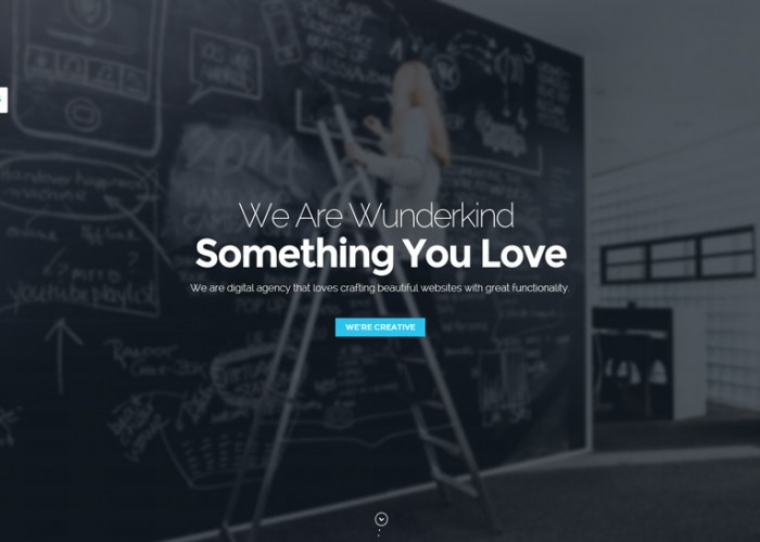 Wunderkind – Premium Responsive One Page Parallax HTML5 Template