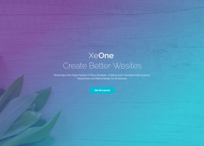 XeOne – Premium Responsive One Page Parallax HTML5 Template