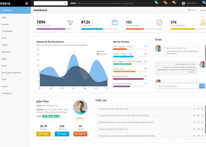 Xperia – Premium Responsive Bootstrap Dashboard Admin HTML5 Template