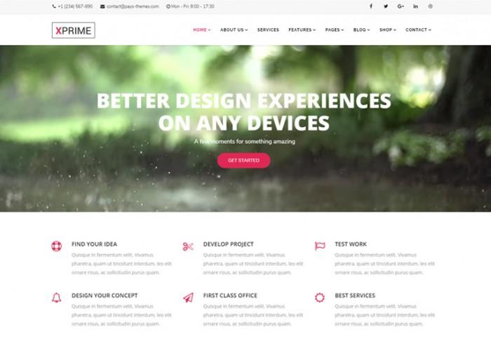 XPRIME – Premium Responsive Creative Multipurpose Joomla Template