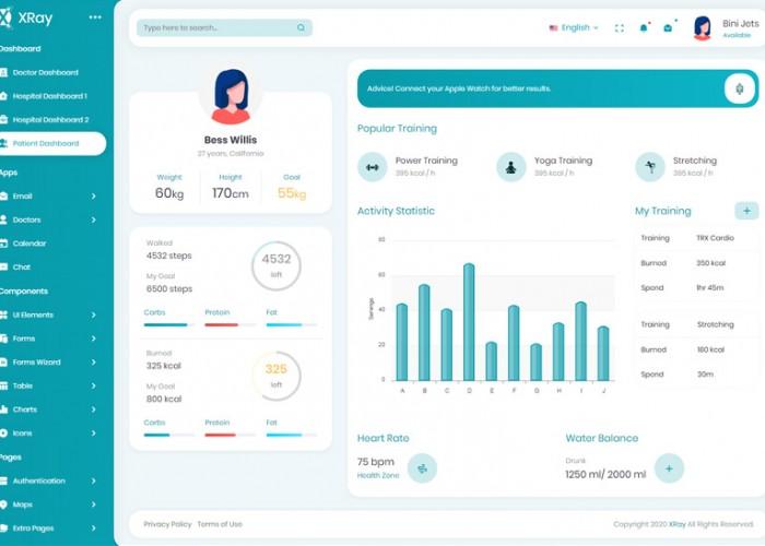 XRay – Premium Responsive Medical and Hospital Admin HTML5 Template