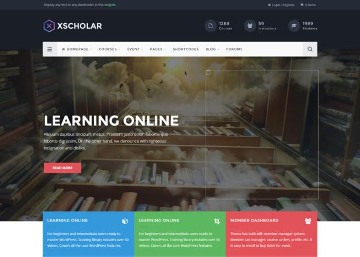 XScholar – Premium Responsive LMS Course Event University Wordpres Theme