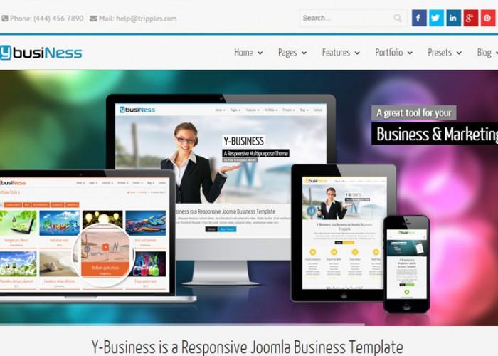 YbusiNess – Joomla Premium Responsive Template