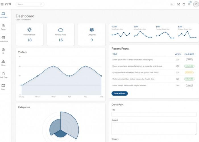 Yeti Admin – Premium Responsive Tailwind CSS HTML5 Template