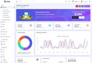 Yoha – Premium Responsive Bootstrap Admin HTML5 Template