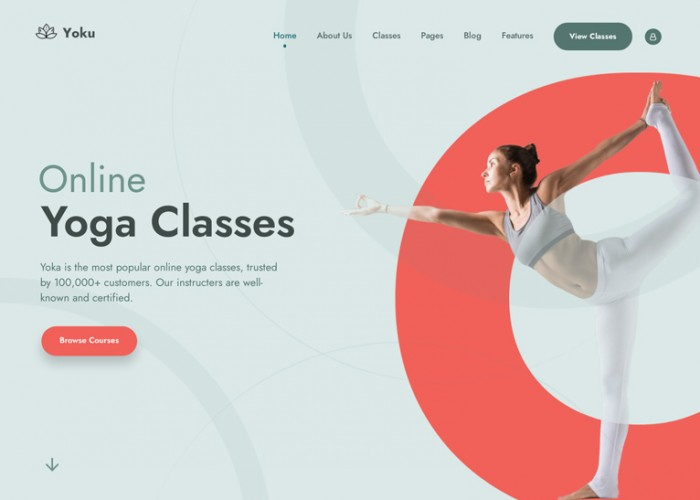 Yoku – Premium Responsive Yoga Studio WordPress Theme