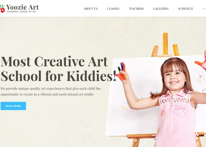 Yoozie – Premium Responsive Children Art School WordPress Theme