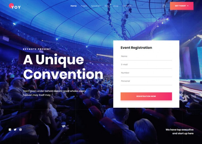 YOY – Premium Responsive Event & Conference WordPress Theme