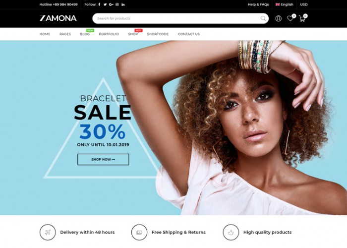 Zamona – Premium Responsive WooCommerce WordPress Theme