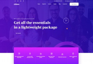 Zibber – Premium Responsive Business Consulting HTML5 Template