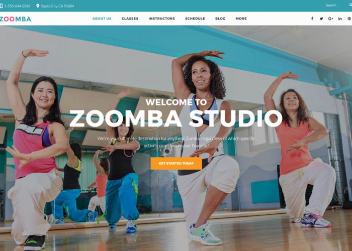 Zoomba – Premium Responsive Dance Studio WordPress Theme