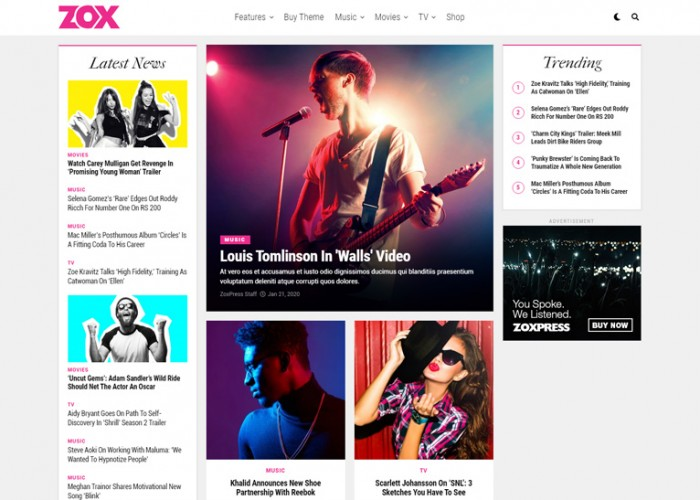 ZoxPress – Premium Responsive News and Magazine WordPress Theme